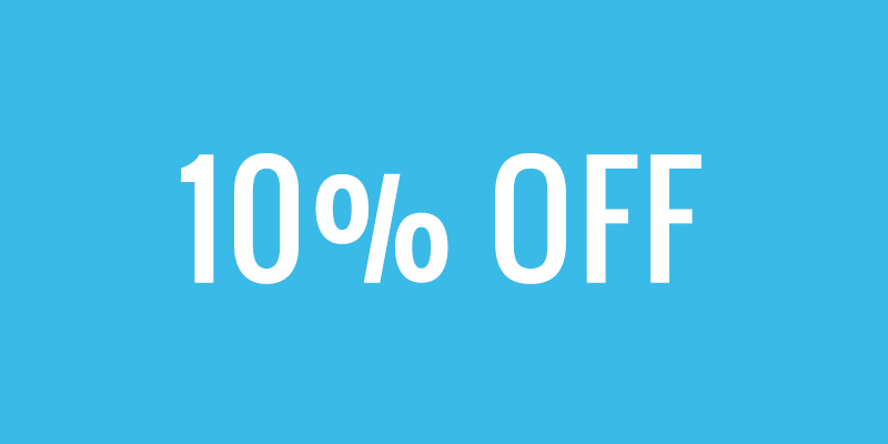 10% off monthly bookings